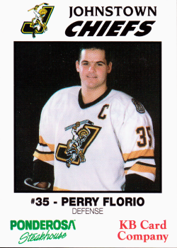 Perry Florio Johnstown Chiefs PERRY FLORIO Hockey Card Collection
